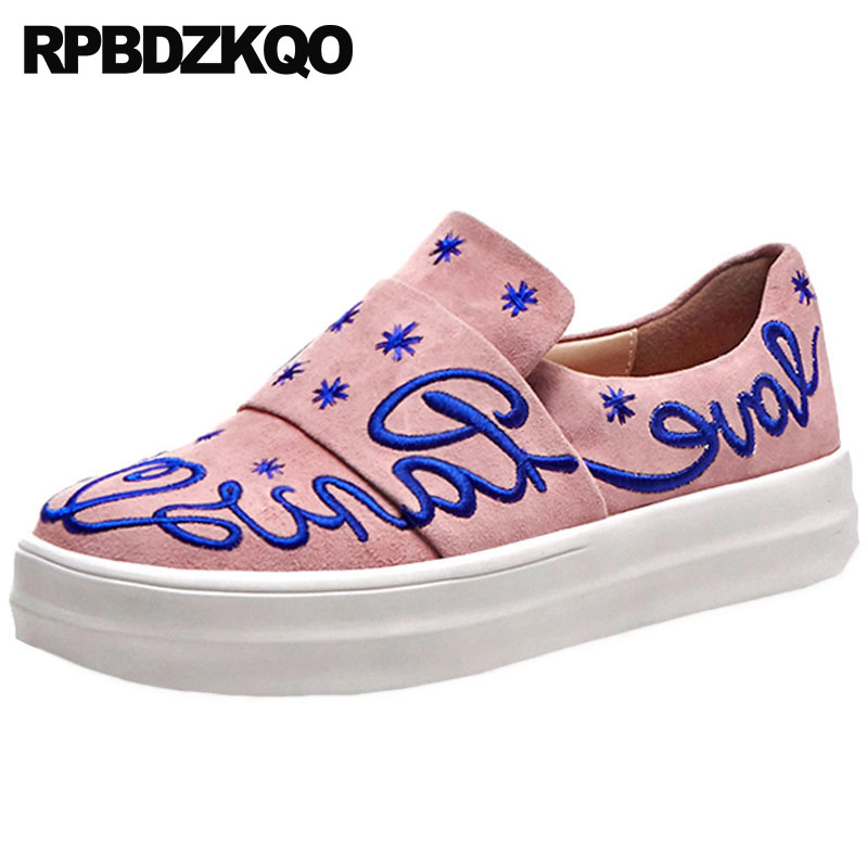 suede women embroidery korean pink floral creepers flats heart chinese embroidered shoes beautiful flower platform round toesuede women embroidery korean pink floral creepers flats heart chinese embroidered shoes beautiful flower platform round toe