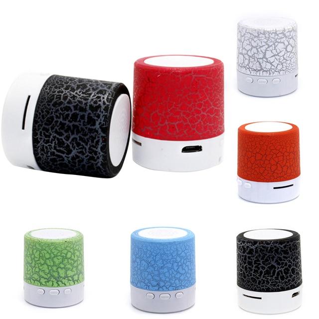 Altavoz portátil altavoz cambio de Color Mini luz LED Crack MP3 apoyo TF tarjeta de Audio USB Subwoofer ESTÉREO