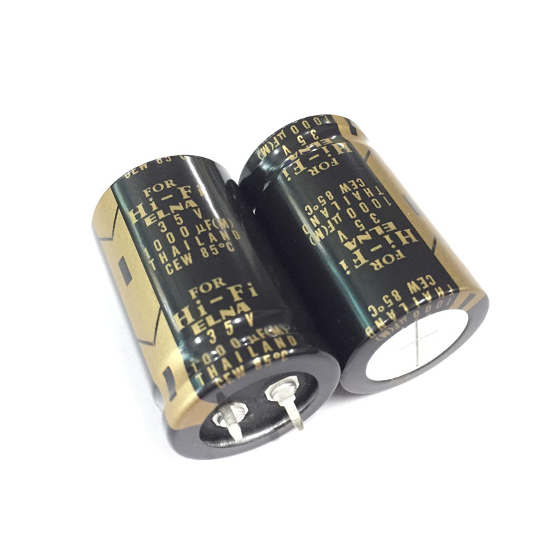 2pcs 1000uF 35V ELNA LAO Audio Capacitor 35V1000uF 25x40mm For Audio HiFi DIY Capacitor