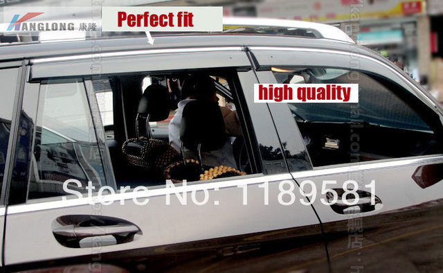Para Benz GLK300 350 260 2010 2011 2012 2013 2014 + Janela Vento Defletor Visor Chuva/Sun Guard Ventilação