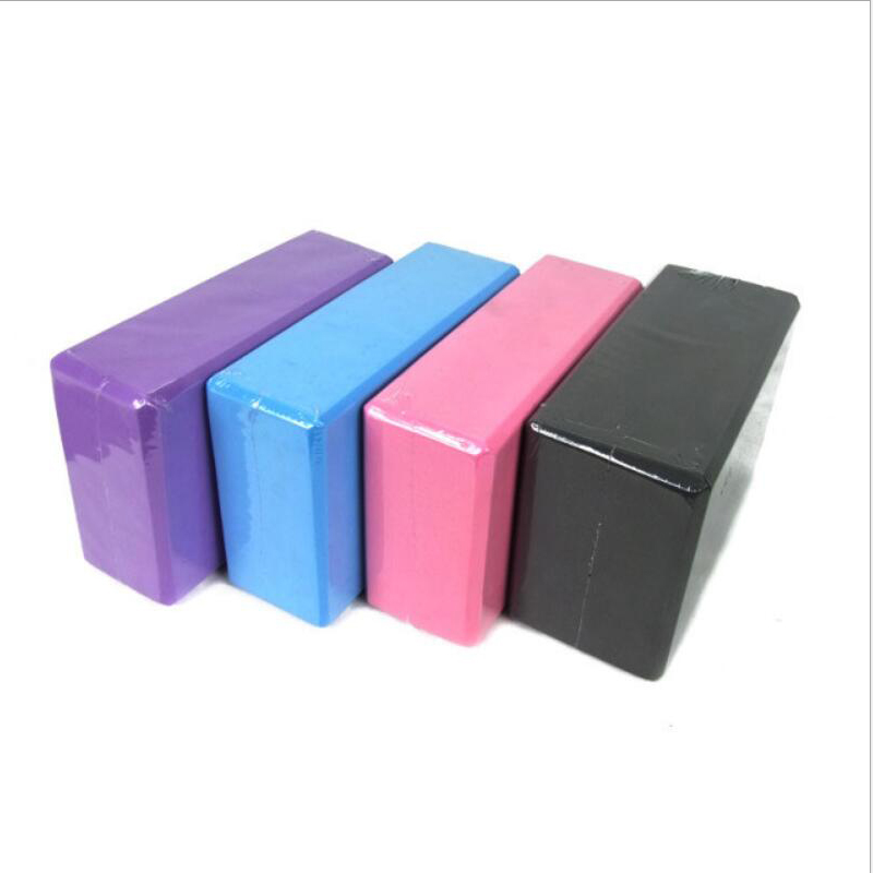 8 Colors EVA Yoga Block Brick 120g Sports Exercise Gym Foam Workout Stretching Aid Body Shaping Health Training Fitness Sets T body gym eva