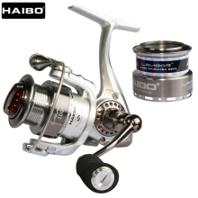 HAIBO Brand LAMBOR 10S 20S Top Quality 1000 2000 Series Spinning Fishing Reel Lure Fishing Reel Double Spools
