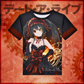 Anime Date A Live T-shirt Tokisaki Kurumi Polyester T Shirt Fashion Summer Active Otaku Men Women Tees