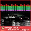 90*25 CM ritmo da música Do Carro levou luz da decoração/carro lâmpada de controle de Voz/música lamp/Som música Activated Equalizer Adesivos