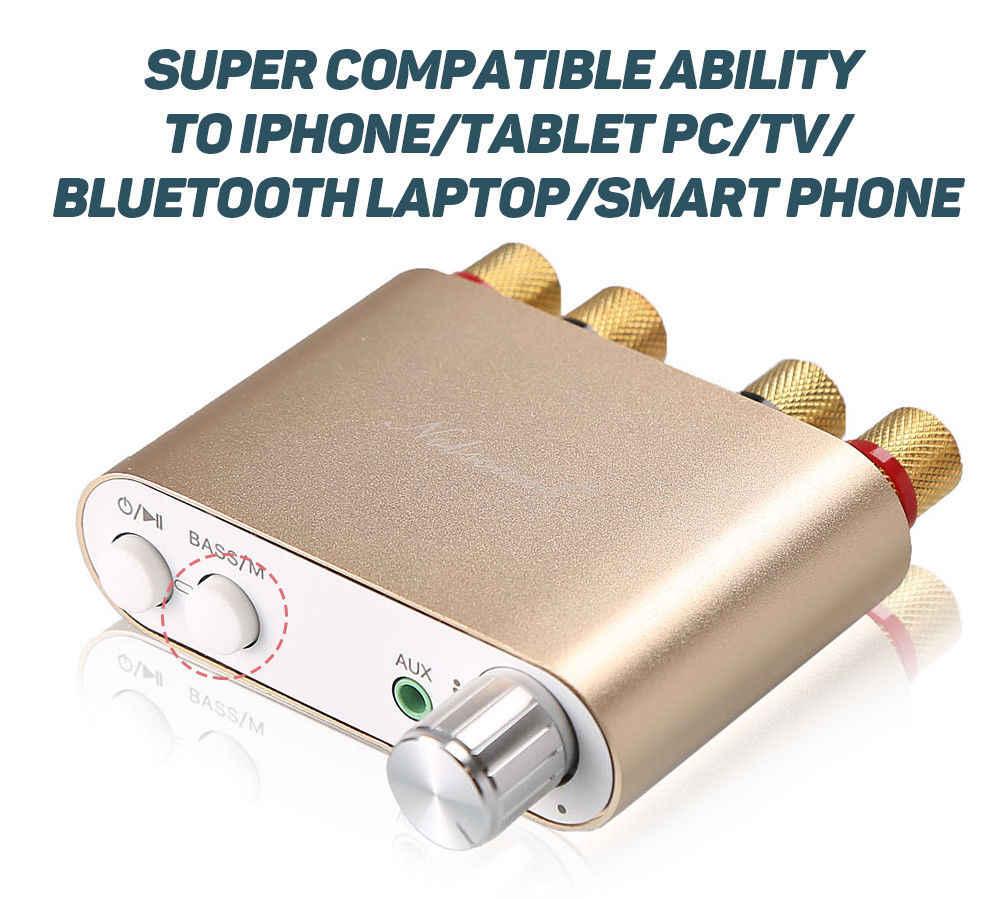 2017 Новый Nobsound HiFi 100 Вт мини TPA3116 Bluetooth 4,0 Цифровой усилитель с блоком питания Бесплатная доставка