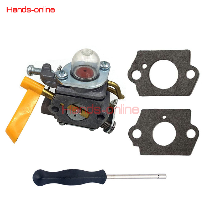 Carburetor w/ Adjusting Tool & Gaskets For Ryobi Homelite 25cc 30cc String Trimmer Blower Pole Pruner Brushcutter ZAMA C1U-H60