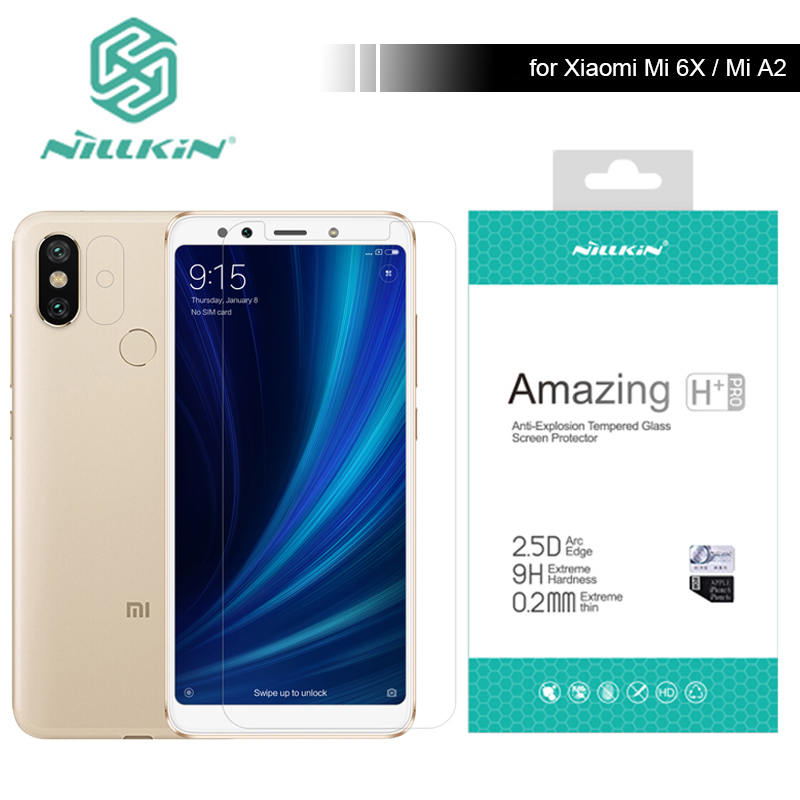 Xiaomi Mi 6X MiA2 Glass Nillkin 9H / H+ Pro Tempered Glass Screen Protector for Xiaomi Mi6X Mi A2 Anti-Scratch Ultra-Thin Glass