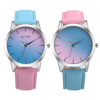Retro Rainbow Design Leather Band Analog Alloy Quartz Wrist Watch  Luxury brands  relogio feminine Elegant  Lovely Top brands#25 analog watch