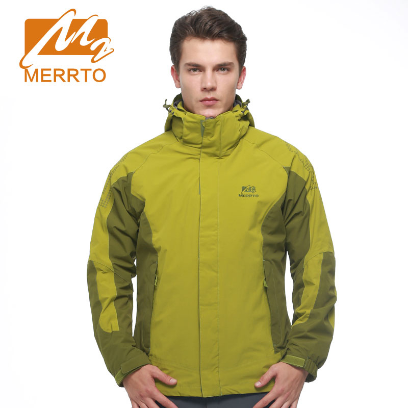 MERRTO Brand Thermal Outdoor Hiking Jackets Winter Men Windbreaker Climbing Ski Sports Jacket  Windproof With Inner Coat #19013  winter jackets thermal thicken jacket outdoor sports ski jackets camping coat waterproof windproof climbing jacket for mans