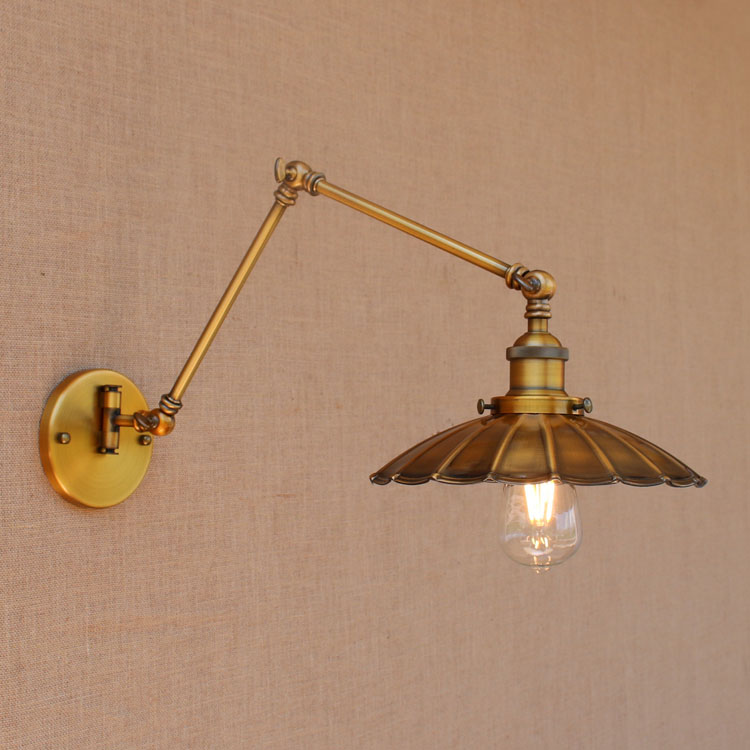 Rocker Arm Industrial Vintage Loft Wall Lamps RH Metal Retro Wall ...