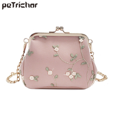 Petrichor Vintage Mini Shell Women Crossbody Bag Ladies Long Chain Shoulder Messenger Bags Small PU& lace Handbag Female Purses
