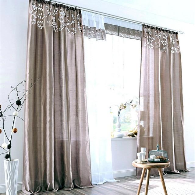 Nuova vendita Calda Finito tende di garza voile tulle pura cortina ...