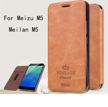 Для Meizu M5 meilan M5 Чехол Флип PU Кожаные чехлы Mofi Original Для Meizu M5 Высокое качество Книга Стиль сотовый телефон Крышка