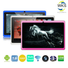 "Regalo de Bebé de silicona Caso 7 ""Tablet PC Android 4.42 de Google A33 Quad Core 8 GB WiFi de Doble Cámara de 7 Pulgadas Q8 Q88 Tablets PC"