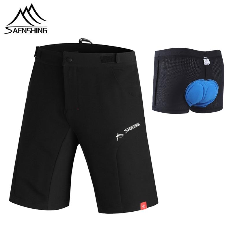 96049eaafd SAENSHING pantalones cortos de ciclismo + ropa de moto 3D Gel Pad cuesta abajo  Mtb pantalones cortos de los hombres cortos de bicicleta de montaña de las  ...