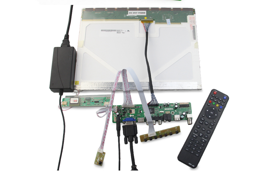 Kit for HT156WX1-100  TV+HDMI+VGA+USB LCD LED screen Controller Driver Board