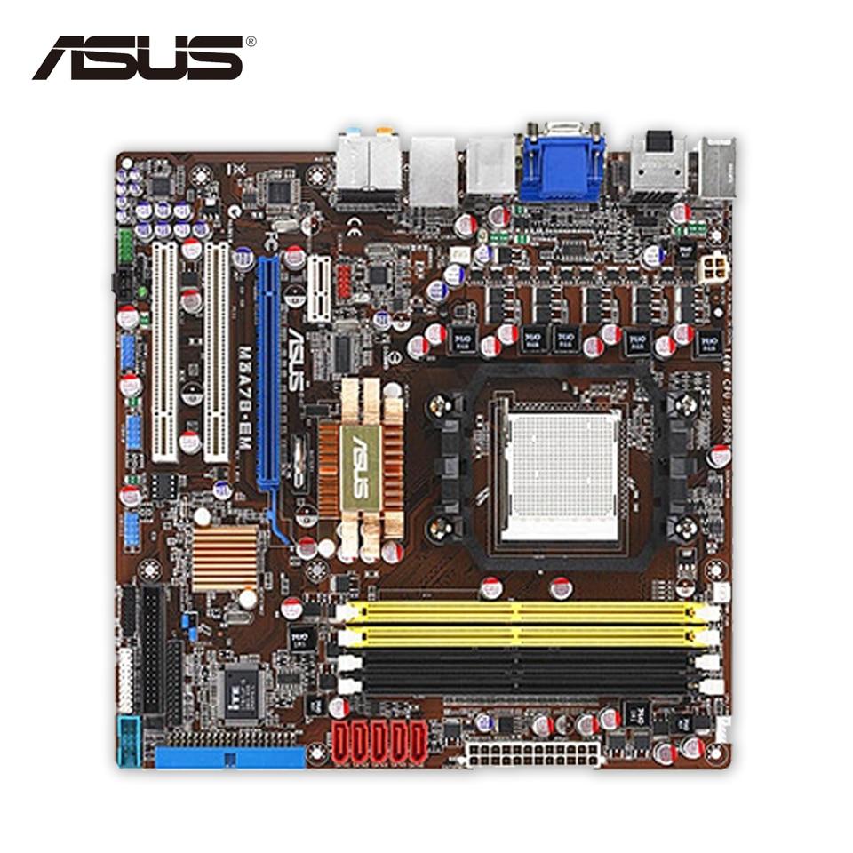 Asus M3A78-EM Desktop Motherboard 780G Socket AM2 DDR2 SATA II USB2.0 Micro ATX Second-hand High Quality asus p5qpl am в киеве