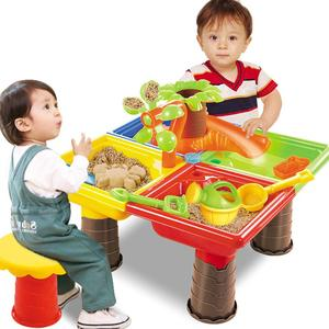 Детский Песочный набор, пляжный Песочник, стол, вода, открытый сад, игра, лопата, инструмент, игрушка для дома, пляжный стол, игрушки