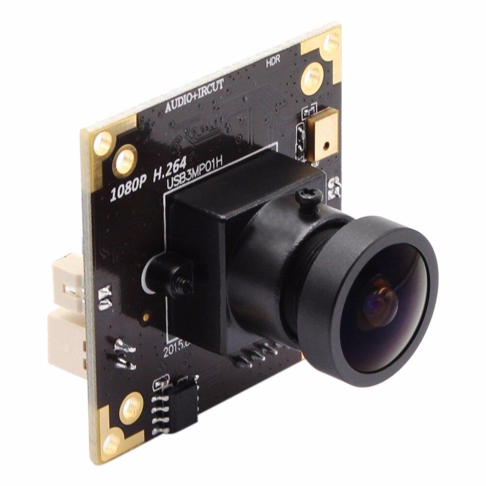 цена H.264 30fps 1920*1080 WDR Wide angle USB Camera module Aptina AR0331 Wide Dynamic Range 3MP camera board industrial or security