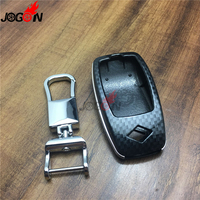 Carbon Fiber Look Smart Key Fob Case Bag Shell Holder Key Chain Ring Cover For Mercedes