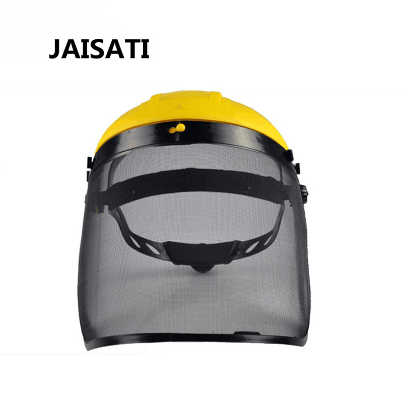 JAISATI Welding headband mesh mask anti-flying face screen dust-proof dust masks jaisati transparent dust proof welding hood headset mask abor protection protection surface screen splash mask