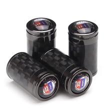 цена на 4Pcs Carbon Fiber Wheel Tire Valves Caps For Alpina Emblem For BMW X1 X3 X4 X6 G30 E36 E46 E39 E60 E53 E34 F30 F32 Car Styling
