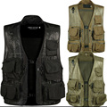 Summer Men's Multifunctional Breathable Quick-drying Vest Male Summer Photography Multi-pocket Vest