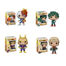 Funko POP 10cm MY HERO ACADEMIA-DEKU,KATSUKI,ALL MIGHT TODOROKI action Figure collectible Toys for children birthday gift(China)