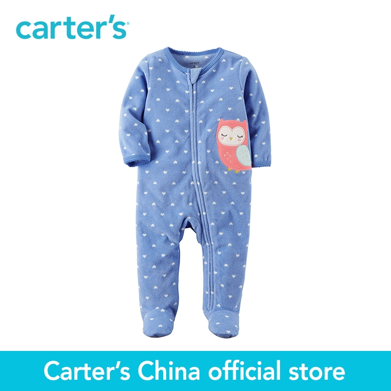 Carter's 1-Piece baby children kids clothing Girl Spring& Fall  Fleece Zip-Up Sleep & Play 115G389