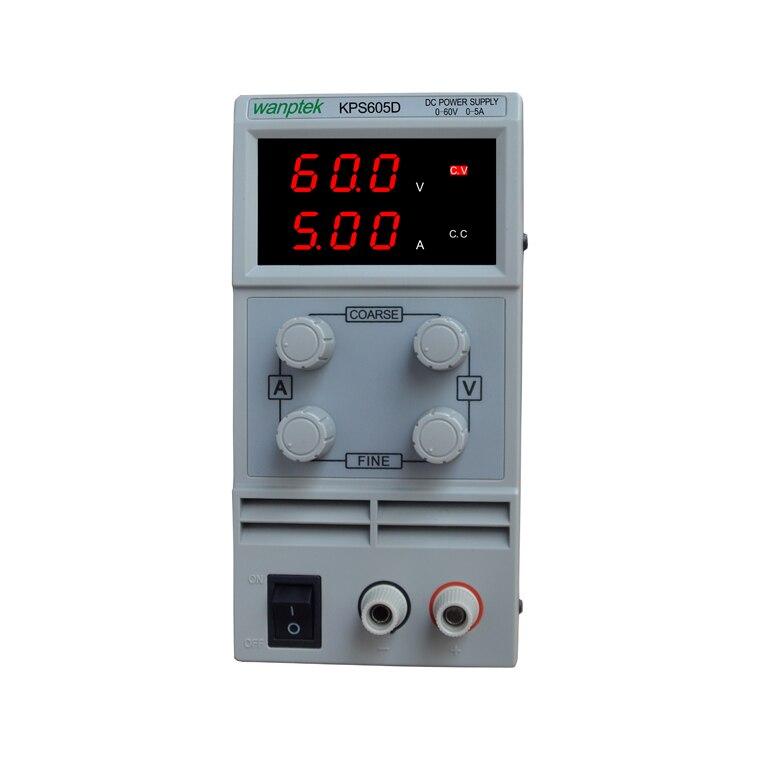 Mini laboratory power supply KPS605D 60V 5A Single phase adjustable SMPS Digital voltage regulator 0.1V 0.01A DC power supply sw3010d mini digital dc regulator adjustable power supplier 30v 10a 110v 220v voltage switching power supply
