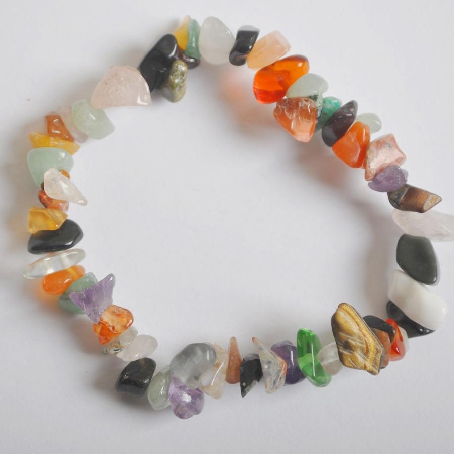 Lucky Chip Beads Multi-color Fluorite Stretch Bracelet 8 Inch Jewelry For Gift G653 Bracelets & Bangles
