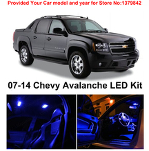 Free Shipping 10Pcs/Lot Blue Premium Package Kit LED Interior Lights For Chevrolet Avalanche 2007-2014 free shipping 10pcs 1691ai msc1691ai led tsop 16
