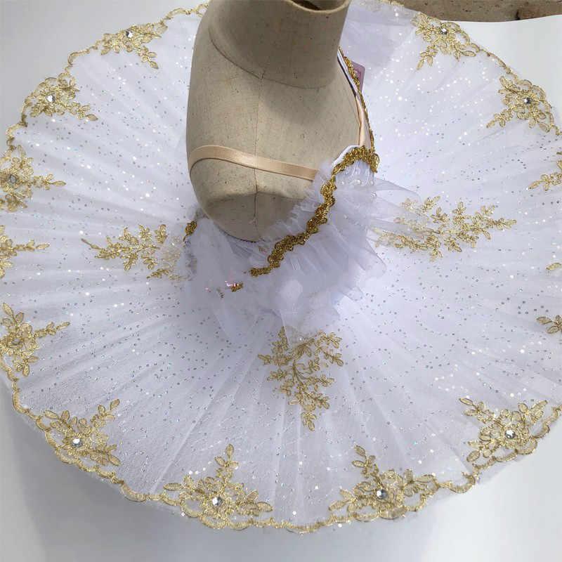 2019 Bale Tutu Kızlar Çocuklar Çocuk Profesyonel Bale Tutu Kuğu Gölü Kostümleri Balerin Mavi Beyaz Balett Elbise Yetişkin Kadın