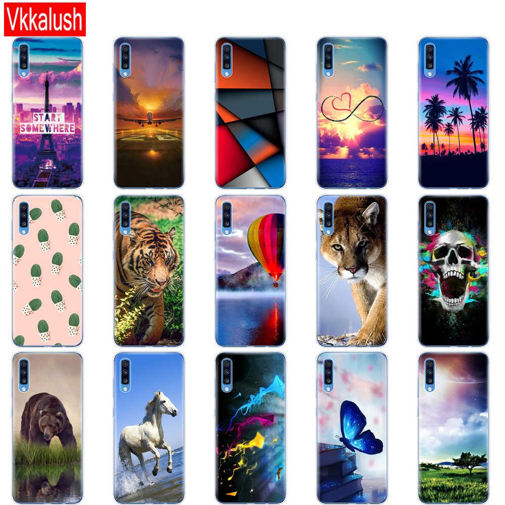 Couleur Téléphone étui pour samsung A70 2019 Doux TPU Téléphone étui pour samsung Galaxy A70 Étui En Silicone 70 A705 A705F Pare-chocs Arrière