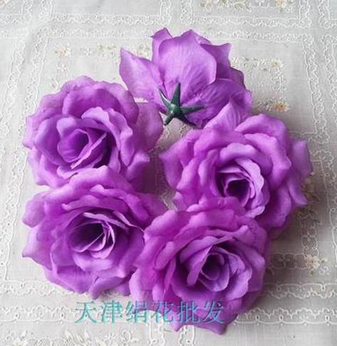 50 шт. искусственная Камелия Роза Пион Свадебные цветы декоративные искусственные цветы несколько цветов - Цвет: deep purple