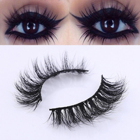 1Pair New Charming Long Handmade 3D Mink Hair False Eyelashes Natural Messy Cross Extension Eye Lashes Beauty Makeup Tools False Eyelashes