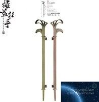 Modern luxury Chinese antique doors Handle square tube handle / European bronze glass door large door handles