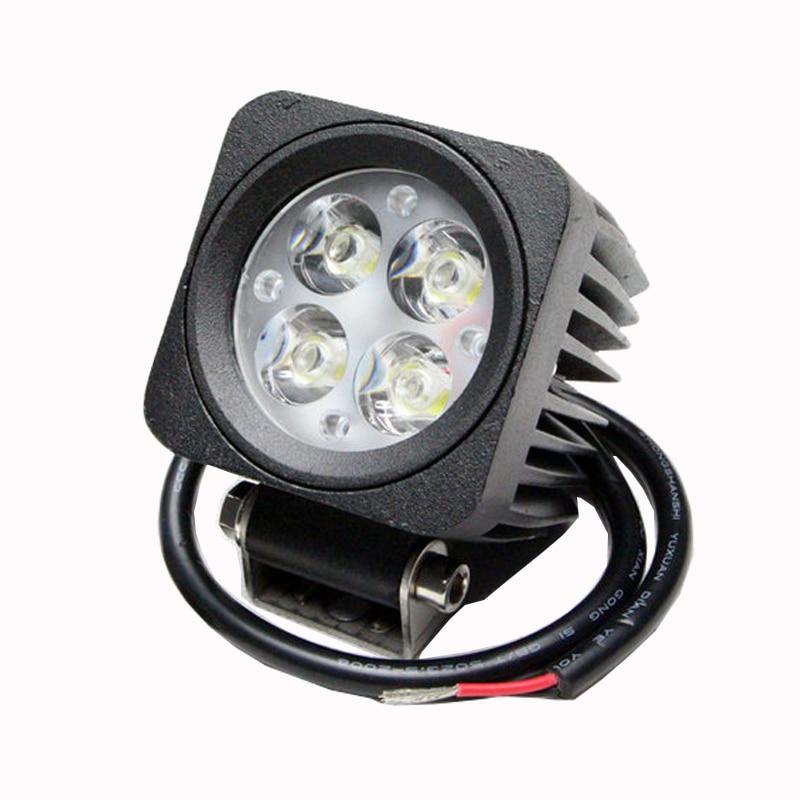 ФОТО Car led work light 12W 4pcs*3W LED treedozer, crane, fork lift, mining truck work light with IP68 CE ROHS certificate