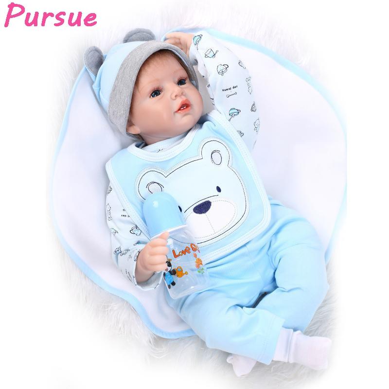 Pursue Baby Alive Silicone Reborn Baby Dolls for Sale Toys for Children Girls Boys Reborn Doll 55 cm bebe reborn menino menina
