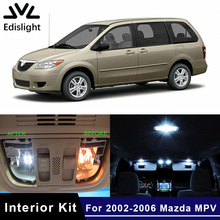 Светильник Edis, 14 шт., белые, голубые СВЕТОДИОДНЫЕ Лампы CANBUS, автомобильные лампы, интерьерная посылка, комплект для 2002-2006 Mazda MPV, карта, купольная дверная пластина, светильник