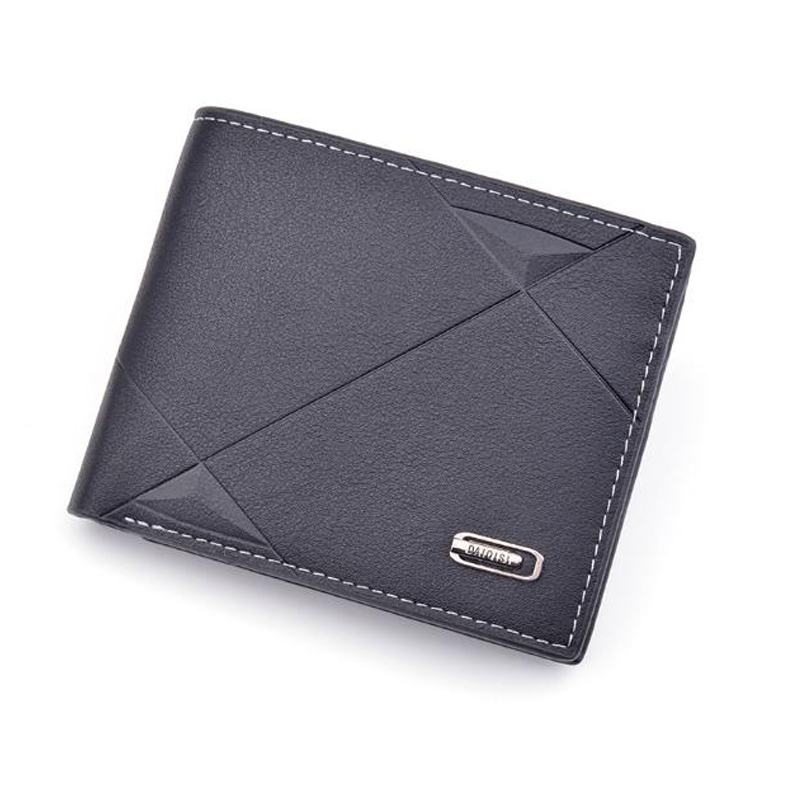 Men's Wallet Short Multi-card Fashion Casual Wallet Men's Youth Thin Three Fold Cross Section Soft Wallet 2019 New