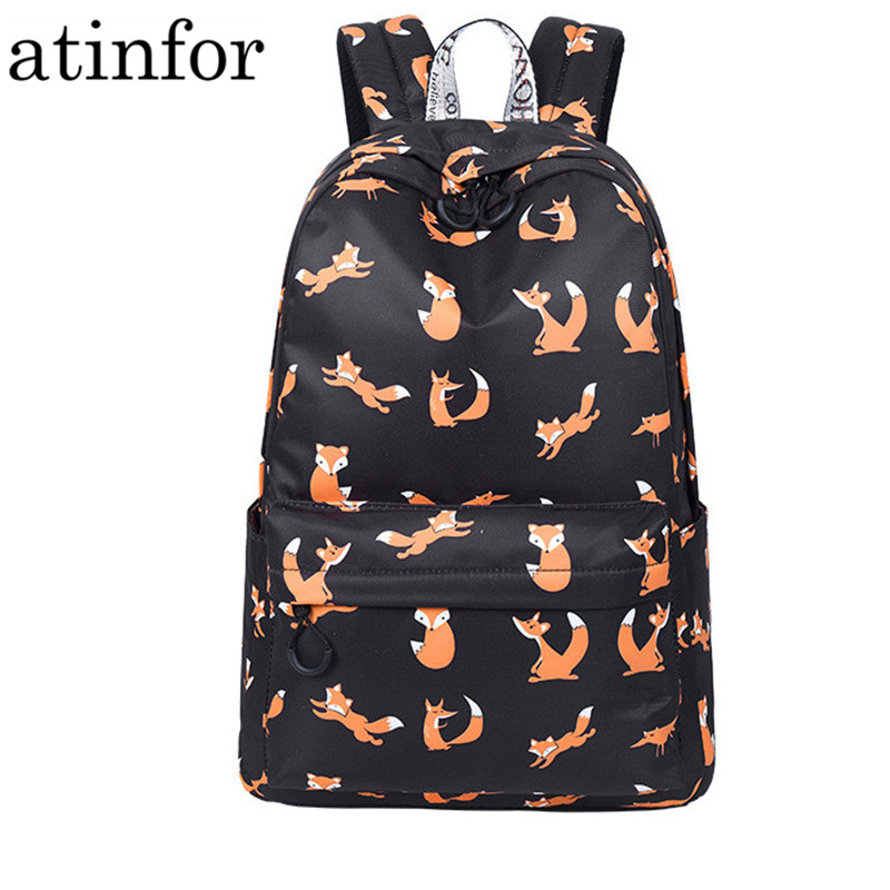 High Quality Waterproof Women Backpack School Cute Animal Pattern Printing Female Travel Daily Laptop Book Bag Knapsack