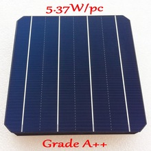 A Grade 156m Mono Monocrystalline solar cell 21.60% high efficiency 500pcs  5.37W 2017 NEW Solar Cell 156 *