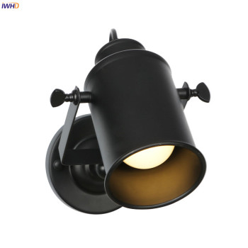 IWHD Black Adjustable LED Wall Light Up Down Bedroom Bathroom Mirror Loft Retro Vintage Wall Lamp Sconce Lamparas De Pared iwhd adjustable swing long arm retro wall lights for home bedroom mirror stair light loft decor industrial vintage wall lamp led