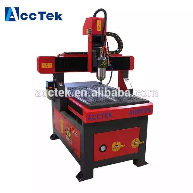 Faible coût AccTek petite CNC sculpture machine 6090 routeur