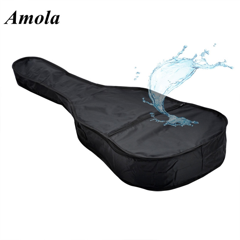 41/40inch Waterproof Guitar Bag case Lightweight Electric Acoustic Guitar Bag Case Bass Carry Shoulder Strap with Shoulder Strap astraca deluxe brown black 40 41 acoustic guitar bag 600d nylon oxford guitar soft case gig bag 10mm thicken