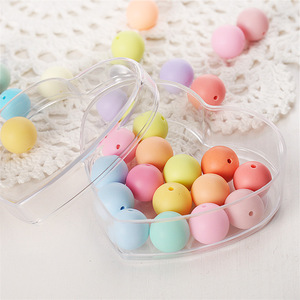 8.5*8*4cm Plastic Organizer Box Chocolate Candy Gift Box Heart Shape Snacks Dried Fruit Container Sundries Transparent Storage B