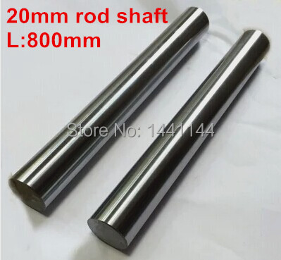 2pc diameter 20mm -  800mm linear round shaft harden rod chrome plated linear shaft for linear slide system CNC XYZ table