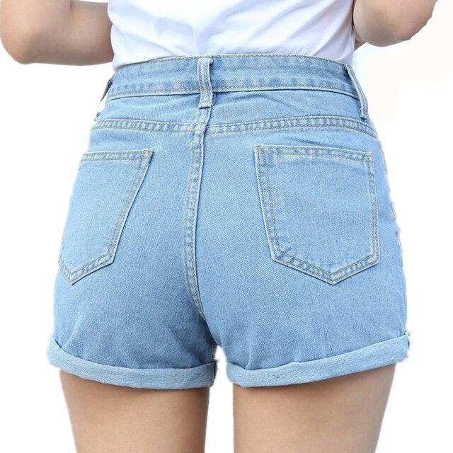 a0c7233932 Nueva moda Casual azul Jeans 2017 talla grande 26-32 verano alta cintura Casual  pantalones