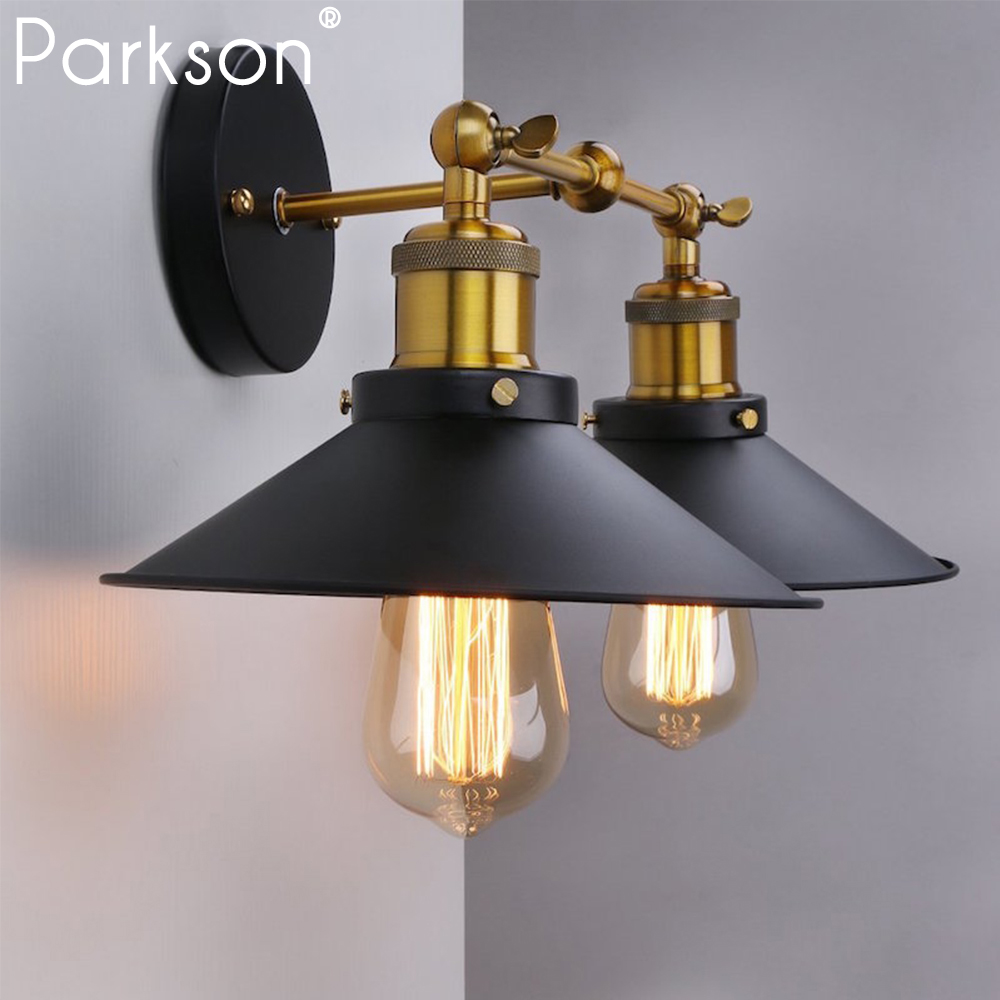 Vintage Retro Wall Lamp Black Industrial Decor Wandlamp Living Room Bedroom Bathroom Wall Light LED Lighting Room Bedside Lamp
